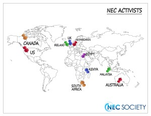NEC Activists World Map 11.25.14